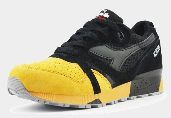 Diadora N9000 черное желтые